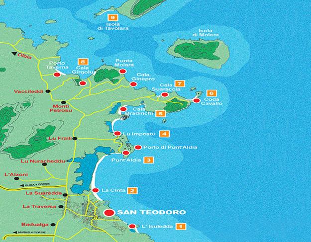 Cartina Sardegna San Teodoro.The Beaches Villino Mi To 2 Casa Vacanze In Sardegna A San Teodoro